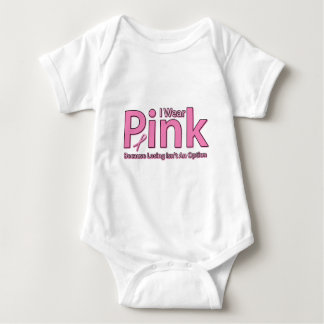 I Wear Pink Baby Bodysuit