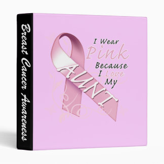 I Wear Pink Because I Love My Aunt 3 Ring Binder