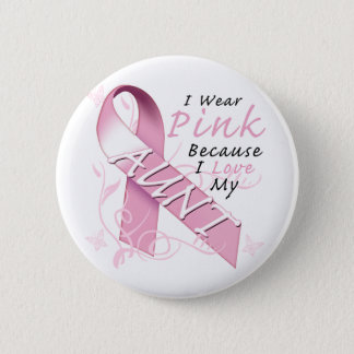 I Wear Pink Because I Love My Aunt Button