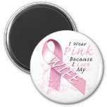 I Wear Pink Because I Love My Wife Fridge Magnet