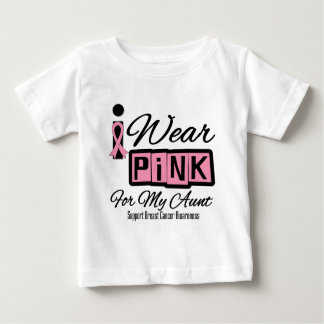 I Wear Pink Breast Cancer Aunt (Retro) T-shirt