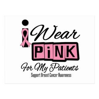 I Wear Pink Breast Cancer Patients (Retro) Postcards