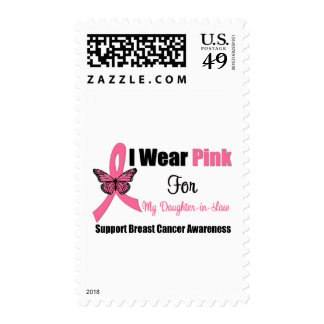 I Wear Pink Butterfly Ribbon For Daughter-in-Law Postage