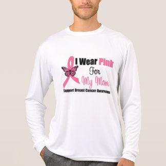 I Wear Pink Butterfly Ribbon For My Mom T Shirts
