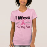 I Wear Pink Collage Aunt - Breast Cancer T-shirt