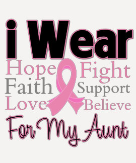 I Wear Pink Collage Aunt - Breast Cancer T Shirt