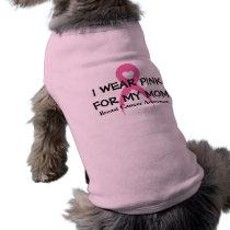 I wear Pink (customize) dog Shirt