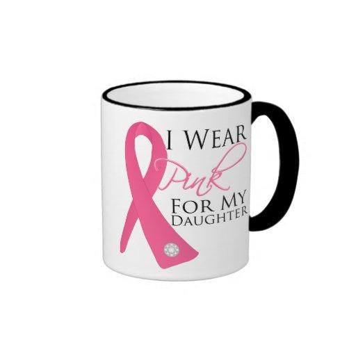 I Wear Pink Daughter Breast Cancer Coffee Mug