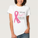 I Wear Pink Daughter Breast Cancer Tshirt