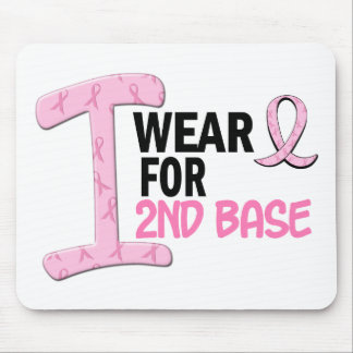 I Wear Pink For 2nd Base 21 BREAST CANCER Mouse Pad