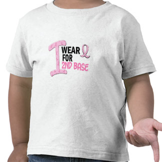 I Wear Pink For 2nd Base 21 BREAST CANCER Shirts
