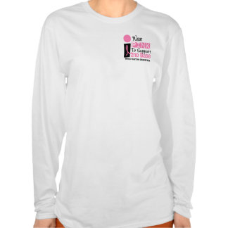I Wear Pink For 2nd Base Breast Cancer T-shirt