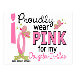 I Wear Pink For Daughter-In-Law 27 Breast Cancer Postcard