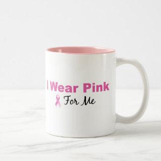 I Wear Pink For Me Two-Tone Coffee Mug