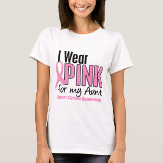I Wear Pink For My Aunt 10 Breast Cancer T-Shirt