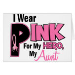 I Wear Pink For My Aunt 19 BREAST CANCER Card