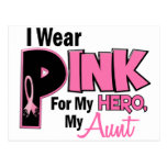 I Wear Pink For My Aunt 19 BREAST CANCER Post Cards