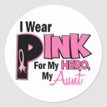 I Wear Pink For My Aunt 19 BREAST CANCER Sticker