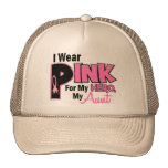 I Wear Pink For My Aunt 19 BREAST CANCER Trucker Hat