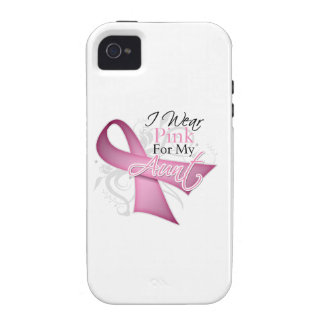 I Wear Pink For My Aunt Breast Cancer Awareness iPhone 4/4S Cover