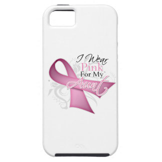 I Wear Pink For My Aunt Breast Cancer Awareness iPhone 5 Cases