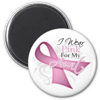 I Wear Pink For My Aunt Breast Cancer Awareness Fridge Magnet