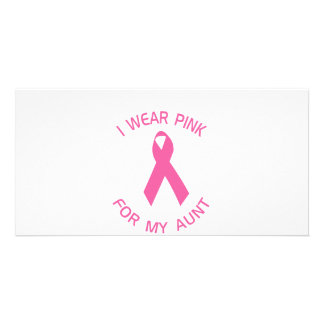 I Wear Pink For My Aunt Breast Cancer Awareness Photo Cards
