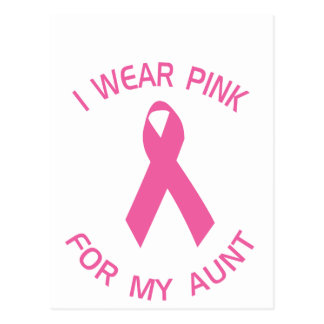 I Wear Pink For My Aunt Breast Cancer Awareness Postcard