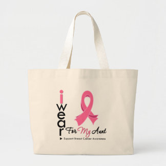 I Wear Pink For My Aunt Breast Cancer Bag