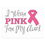 I Wear Pink For My Aunt (Pink Ribbon Version C) Postcard