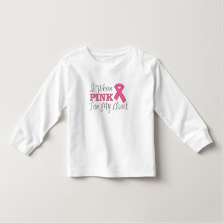 I Wear Pink For My Aunt (Pink Ribbon Version C) Toddler T-shirt