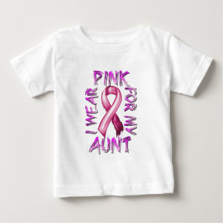 I Wear Pink for my Aunt.png Baby T-Shirt