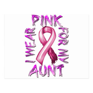 I Wear Pink for my Aunt.png Postcard
