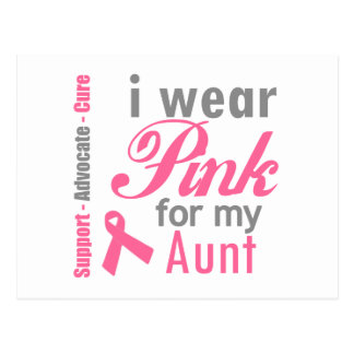 I Wear Pink For My Aunt Post Card