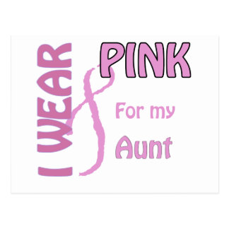 I wear pink for my aunt postcard
