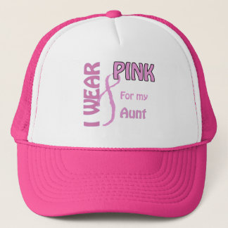 I wear pink for my aunt trucker hat