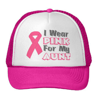 I Wear Pink For My Aunt (Version B) Hats