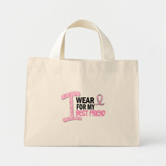 I Wear Pink For My Best Friend 21 BREAST CANCER Mini Tote Bag