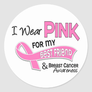 I Wear Pink For My Best Friend 42 Breast Cancer Stickers
