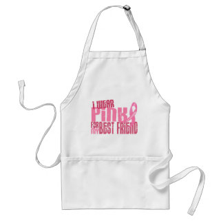 I Wear Pink For My Best Friend 6.4 Breast Cancer Aprons