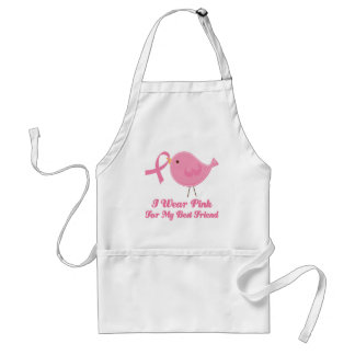I Wear Pink For My Best Friend Adult Apron