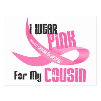 I Wear Pink For My Cousin 33 Postcard