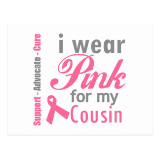 I Wear Pink For My Cousin Postcard
