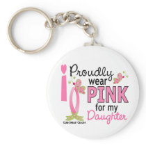 I Wear Pink For My Daughter 27 Breast Cancer Keychain