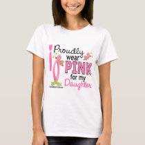 I Wear Pink For My Daughter 27 Breast Cancer T-Shirt
