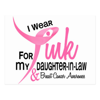 I Wear Pink For My Daughter-In-Law 41 Postcard