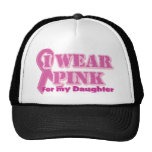 I wear pink for my daughter mesh hats
