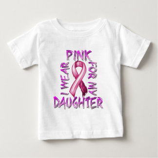 I Wear Pink for my Daughter.png Baby T-Shirt
