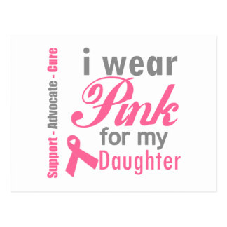 I Wear Pink For My Daughter Postcard