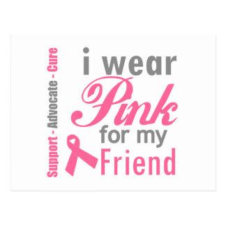 I Wear Pink For My Friend Postcard